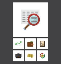 Flat icon finance set of portfolio interchange vector
