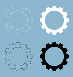 gear the black and white color icon vector image