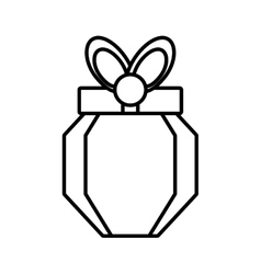 Gift box polygonal carton element outline vector