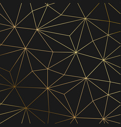 Gold black background with luxury geometric vector