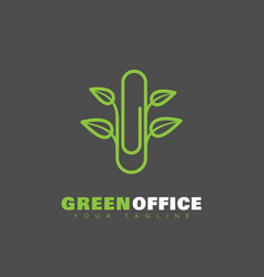 green office logo vector image
