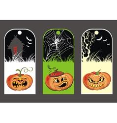 Halloween Pumpkin banners vector image