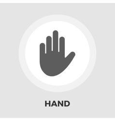 Hand flat icon vector image