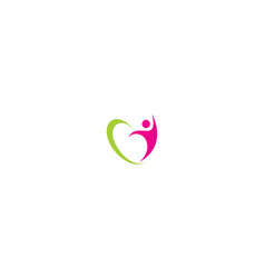 human health success logo icon vector image