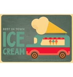 ice cream bus vector image