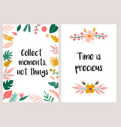Inspirational greeting card or invitation template vector