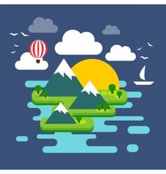 IslandFlat vector image