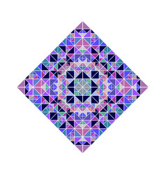 Isolated ornate triangle mosaic diagonal square vector