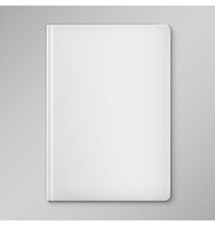 Isolated White Blank Book Cover vector image