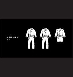 kimono karate vector image