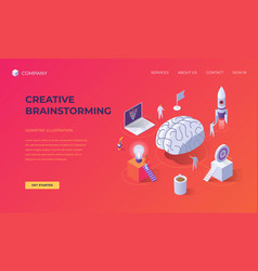 landing page for creative brainstorming vector image