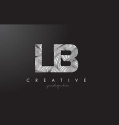 Lb l b letter logo with zebra lines texture vector