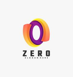 logo zero gradient colorful style vector image