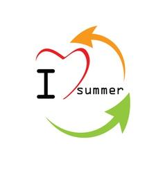 love summer icon color vector image
