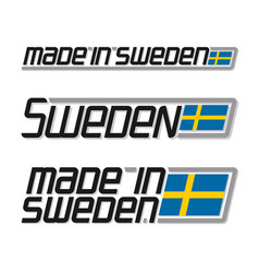 made in sweden vector image
