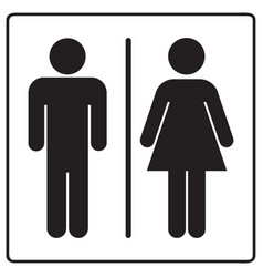 male and female bathroom line sign icon vector image
