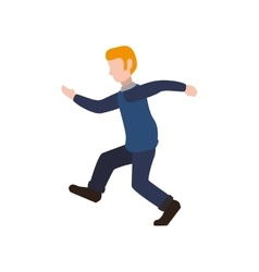 Man running male avatar person people icon vector