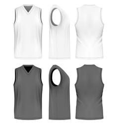 Men sport training sleeveless t-shirt vector image
