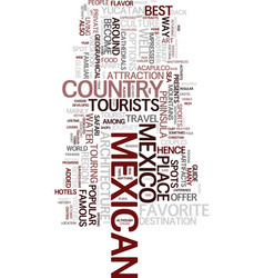 Mexican travel guide text background word cloud vector
