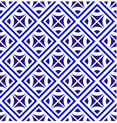 modern pattern blue and white vector image