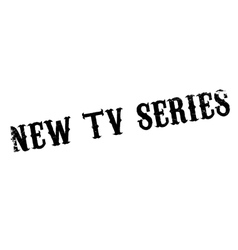 New Tv Series rubber stamp vector image