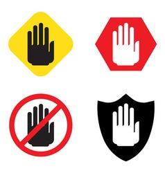 No entry hand sign vector