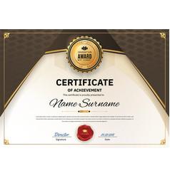 Official white certificate appreciation award vector