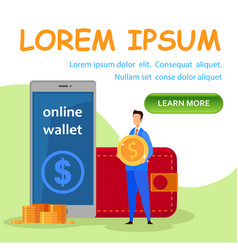 online payment system landing page template vector image