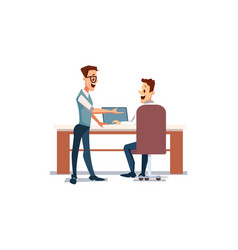 people work in office vector image