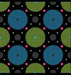 perforated circle seamless pattern vector image