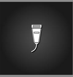 pet shaving machine icon flat vector image
