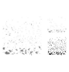 Powder participles halftone dotted icon vector