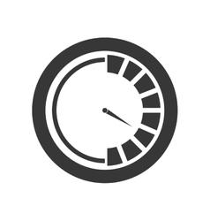 Pressure gauge device icon vector