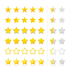 rating five stars set vector image