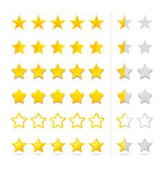 Rating five stars set vector