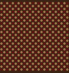 Red brown argyle harlequin seamless pattern vector
