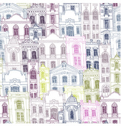 seamless pattern with different houses vector image
