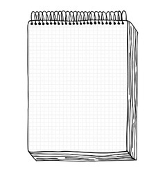 Sketch of books vector