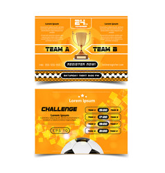 soccer poster design football ball flyer concept vector image