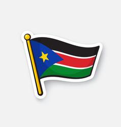 sticker flag south sudan vector image