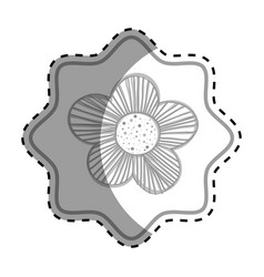 Symbol beutiful flower design vector