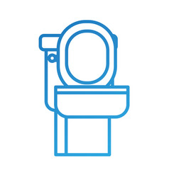 Toilet bowl equipment bath ceramic cartoon icon vector