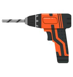 tool working joiner repairman orange screwdriver vector image