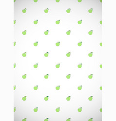 Vertical card with cartoon green apples vector