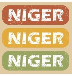 Vintage Niger stamp set vector