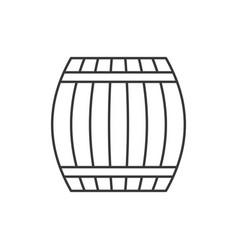 wine or beer in wooden barrel vector image