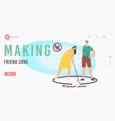 Woman and importunate suitor in friend zone vector
