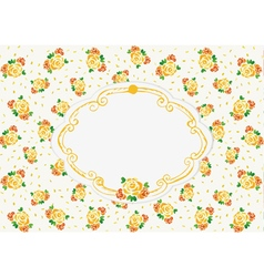 Yellow wedding roses vector