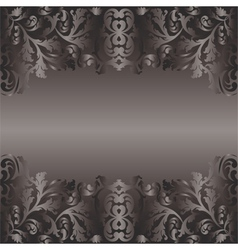 black background with floral ornaments vector image vector image