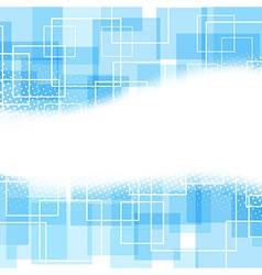 Blue square and wave modern background vector image